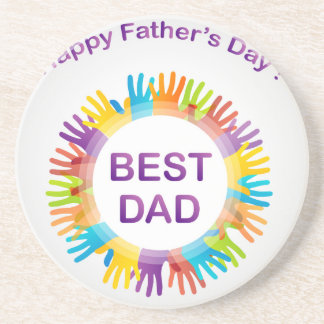 Happy fathers day drink coaster