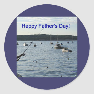 Happy Father's Day!  Fishers of men! Round Sticker