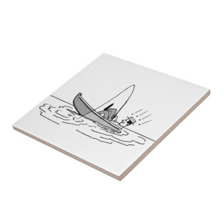 Happy Father's Day - Fishing Boat Tiles