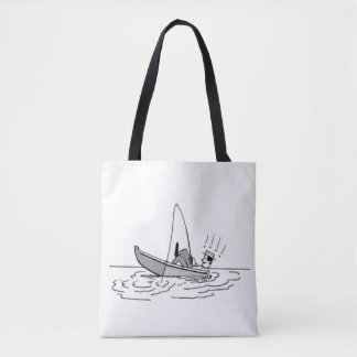 Happy Father's Day - Fishing Boat Tote Bag