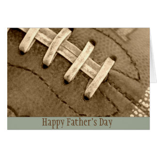 Happy Father's Day Football Greeting Card