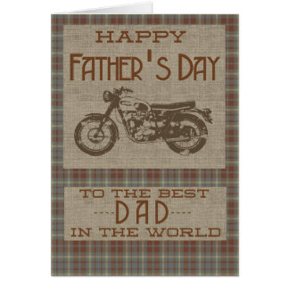 Happy Fathers Day for the Best Dad in The World Card