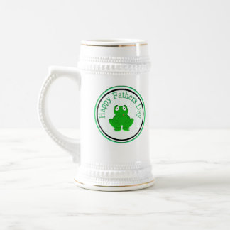 Happy Fathers Day Frog Stein Beer Steins