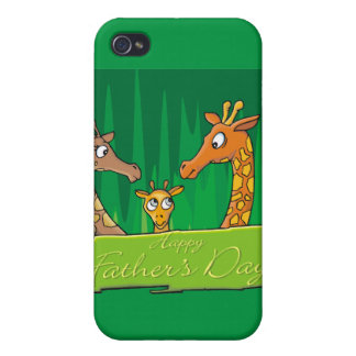 Happy Father's Day Giraffes Cases For iPhone 4