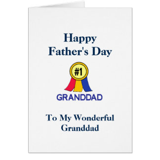 Happy Fathers Day Granddad - Ribbon Card