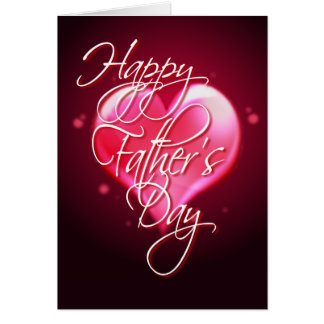 HAPPY FATHER'S DAY HEART by SHARON SHARPE Greeting Card