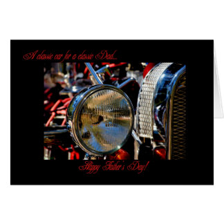 HAPPY FATHER'S DAY- HOT ROD CLASSIC CAR CARD