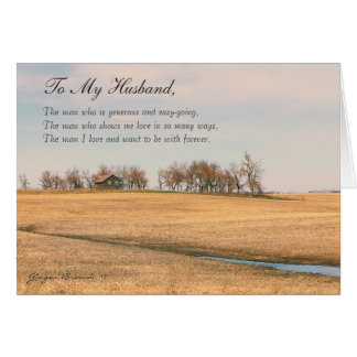 Happy Father's Day Husband, Old Prairie House #3H Card