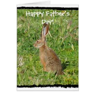 Happy Father's Day Jack Rabbit greeting card