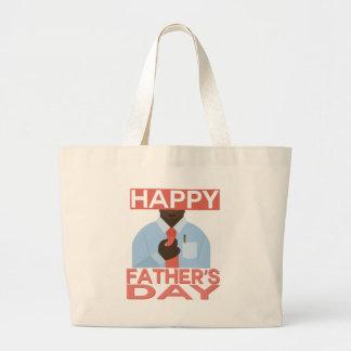 Happy Fathers Day Jumbo Tote Bag