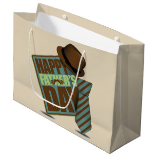 Happy Fathers Day Large Gift Bag
