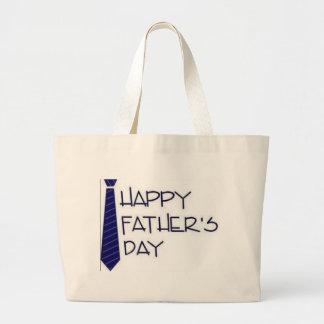 Happy Fathers Day Large Tote Bag