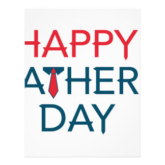 Happy Fathers Day Letterhead Template