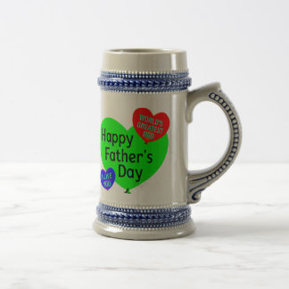 Happy Fathers Day Love Beer Stein