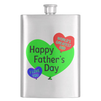Happy Fathers Day Love Hip Flask