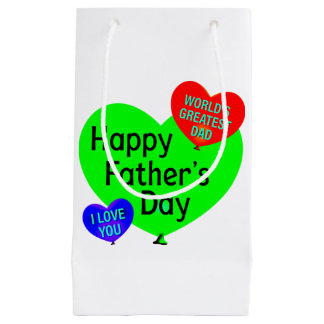 Happy Fathers Day Love Small Gift Bag