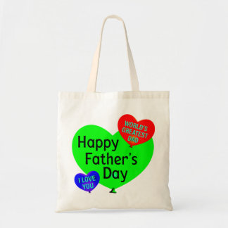 Happy Fathers Day Love Tote Bag