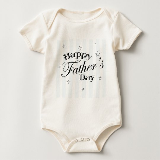 Happy Father's Day Message Baby Bodysuit
