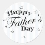Happy Father's Day Message Round Sticker