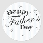 Happy Father's Day Message Round Stickers