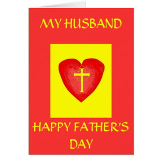 HAPPY FATHER'S DAY, MY HUSBAND CARD