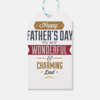 Happy Father's Day Pack Of Gift Tags