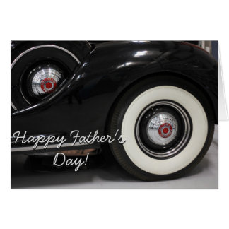 Happy Father's Day Packard car greeting card