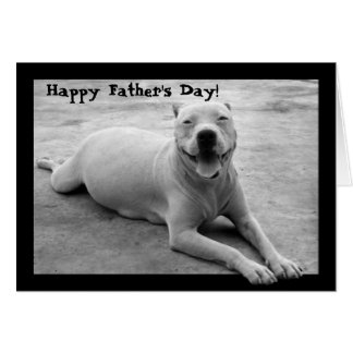 Happy Father's Day pitbull greeting card