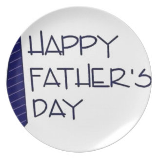Happy Fathers Day Plate