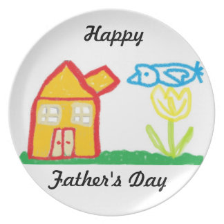 Happy father's  Day plate