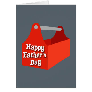 Happy Father's Day Red and Grey Tool Box Card