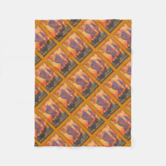 Happy Fathers Day - Red Sails in the Sunset Fleece Blanket