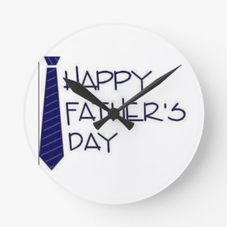 Happy Fathers Day Round Clock