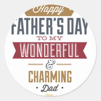 Happy Father's Day Round Sticker