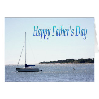 Happy Father's Day Sail Boat With Seagull Card