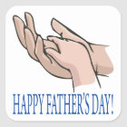 Happy Fathers Day Square Sticker