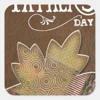 Happy-Fathers-Day Square Sticker