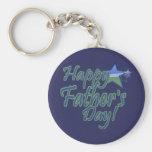 happy fathers day StarDad Basic Round Button Keychain