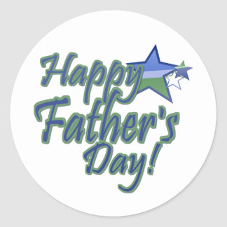 happy fathers day StarDad Classic Round Sticker