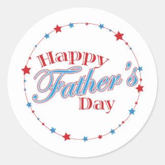 Happy Father's Day Stars Round Sticker