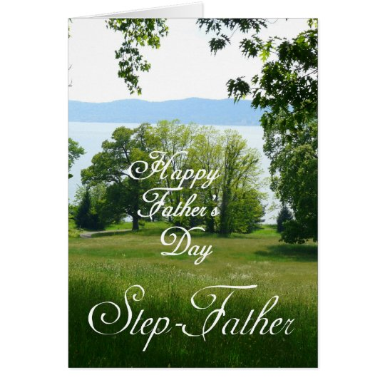 Happy Father's Day Step-Father-Landscape Card