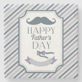 Happy Father's Day Stone Beverage Coaster