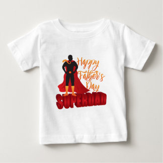 Happy Fathers Day Super Dad Color Illustration Baby T-Shirt