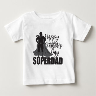 Happy Fathers Day Super Dad Illustration Baby T-Shirt