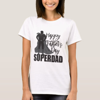 Happy Fathers Day Super Dad Illustration T-Shirt