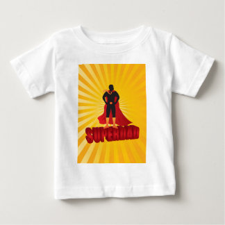 Happy Fathers Day Super Dad Sun Rays Illustration Baby T-Shirt