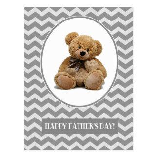 Happy Father's Day. Teddy Bear Design Postcards