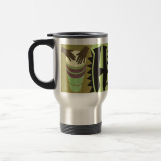 Happy Father's Day - The Congo Drummer 15 Oz Stainless Steel Travel Mug