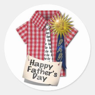 Happy Fathers Day to my #1 Dad Round Sticker