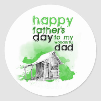 Happy father's day to my wonderful you give round sticker